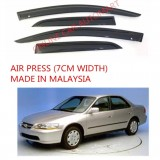 AG Air Press Door Visor Wind Deflector (Made in Malaysia) - Small 7 cm Width for HONDA ACCORD YR1998