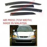 AG Air Press Door Visor Wind Deflector (Made in Malaysia) - Small 7 cm Width for HONDA CIVIC SO4 YR1996