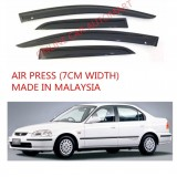 AG Air Press Door Visor Wind Deflector (Made in Malaysia) - Small 7 cm Width for HONDA CIVIC /FERIO