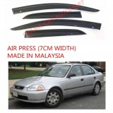 AG Air Press Door Visor Wind Deflector (Made in Malaysia) - Small 7 cm Width for HONDA CIVIC YR 1992-1995