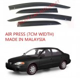 AG Air Press Door Visor Wind Deflector (Made in Malaysia) - Small 7 cm Width for HYUNDAI ELANTRA 1.8 YR2000