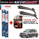 Chevrolet Aveo - (PACKAGE DEAL)Bosch Clear Advantage Wiper Blade with Soft99 Glaco Roll On RAIN REPELLANT - 15 inch & 20 inch