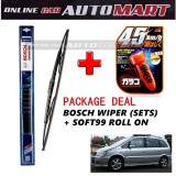 Chevrolet Nabira  - (PACKAGE DEAL)Bosch Advantage Wiper Blade (Sets) with Soft99 Glaco Roll On RAIN REPELLANT - 22 inch & 22 inch