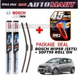 Chevrolet Aveo - (PACKAGE DEAL) Bosch Aerotwin Wiper Blade (Sets) with Soft99 Glaco Roll On RAIN REPELLANT - 15 inch & 20 inch