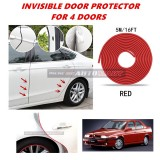 Alfa Romeo 155 - 16FT/5M (RED) Moulding Trim Rubber Strip Auto Door Scratch Protector Car Styling Invisible Decorative Tape (4 Doors)