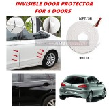 Alfa Romeo 147 - 16FT/5M (WHITE) Moulding Trim Rubber Strip Auto Door Scratch Protector Car Styling Invisible Decorative Tape (4 Doors)
