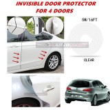 Alfa Romeo 147 - 16FT/5M (CLEAR) Moulding Trim Rubber Strip Auto Door Scratch Protector Car Styling Invisible Decorative Tape (4 Doors)