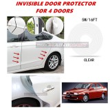Alfa Romeo 155 - 16FT/5M (CLEAR) Moulding Trim Rubber Strip Auto Door Scratch Protector Car Styling Invisible Decorative Tape (4 Doors)