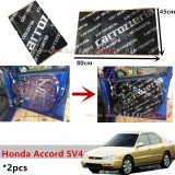 2PCS Carrozzeria High Quality Sound Damping Car Bonnet Door Sound Proof Proofing Deadening Insulation For Honda Accord SV4