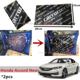 2PCS Carrozzeria High Quality Sound Damping Car Bonnet Door Sound Proof Proofing Deadening Insulation For Honda Accord New