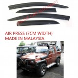 AG Air Press Door Visor Wind Deflector (Made in Malaysia) - Small 7 cm Width for DAIHATSU FEROZA (2DR)