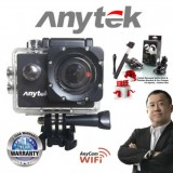 ANYTEK 4K AnyCam Car DVR AC-18 3-in-1 Full HD Action Camera, Camera and DVR Function + 2 Free Gift (Black)