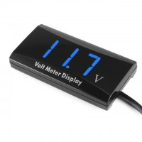 12V D1 SPEC Digital LED Display Voltmeter Car Motorcycle Voltage Volt Gauge Panel Meter Blue