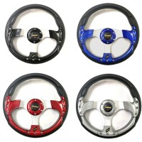 Universal Sport Racing Car Steering Wheel 13 Inch Red Blue Titanium Black Momo