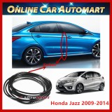 Honda-Jazz 2009-2014 16FT/5M (Carbon)  Moulding Trim Rubber Strip Auto Door Scratch Protector Car Styling Invisible Decorative Tape (4 Doors)