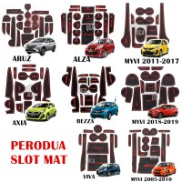PERODUA SLOT MAT interior car ARUZ MYVI OLD LAGI BEST MYVI 2018 AXIA ALZA BEZZA VIVA Red/Blue
