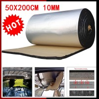 Bluespot 48*200cm 10mm Auto Car Firewall Heat Shield Insulation Sound Deadener Mat Cell Foam
