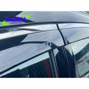 Nazuka Proton X50 X 50 Stainless Steel Chrome Door Visor Acrylic Material With Stainless Steel Chrome With Logo