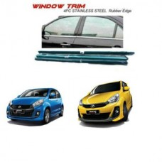 PERODUA MYVI 2012-2015 Window Trim Chrome Lining / Door Belt Moulding (4pcs)