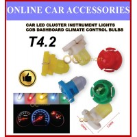 Car LED Cluster Instrument Lights T4.2 COB Dashboard Climate Control Bulbs
