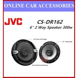 "JVC CS-DR162 6"" 2 Way Coaxial Speakers DRVN DR SERIES,50W RMS,300W"