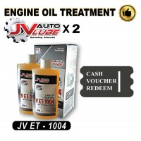 ( Cash Voucher Redeem ) 2 Bottle Original JV Auto Lube - Engine Oil Treatment (JV ET-1004 )