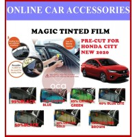 Honda City New 2020 - Pre-Cut Shape Magic Tinted Solar Tinted (4 Windows & 2 Triangle/4 Windows+Rear)