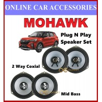 Mohawk Plug N Play OEM Speaker Set For Perodua Ativa Mid Bass and 2 Ways Coxial Speaker ( No Cutting Wire )