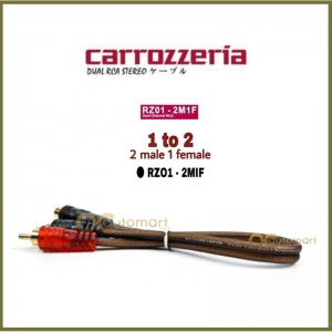 Carrozzeria Audio Dual RCA Stereo Cable 1-to-2 1M2F / 2M1F Power Amp Amplifier
