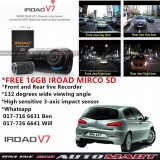 Alfa Romeo 147-IROAD V7 DVR RECORDER Front Rear HD 2 Channel In Car Camera