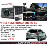 Alfa Romeo 147-iRoad T10 WIFI-LCD 2CH Blackbox Dashcam 16GB+GPS SET(WiFi Dongle, Uninterrupted Fuse Cable), FullHD(1080p), WIFI DVR Car Vehicle Video Recorder - Dash Camera Video Recorder Digital DVR Recorder